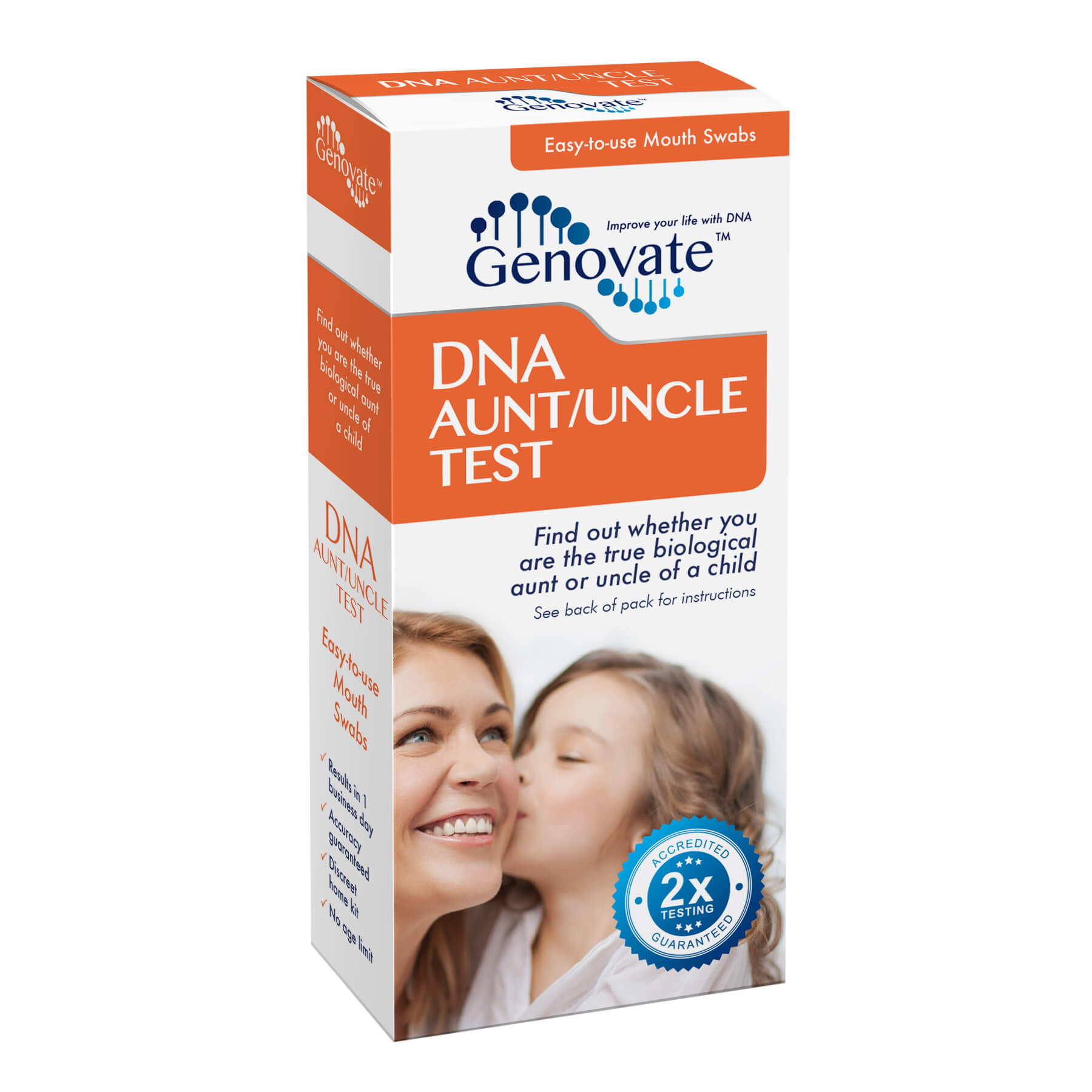 Front of DNA Aunt/Uncle Test box