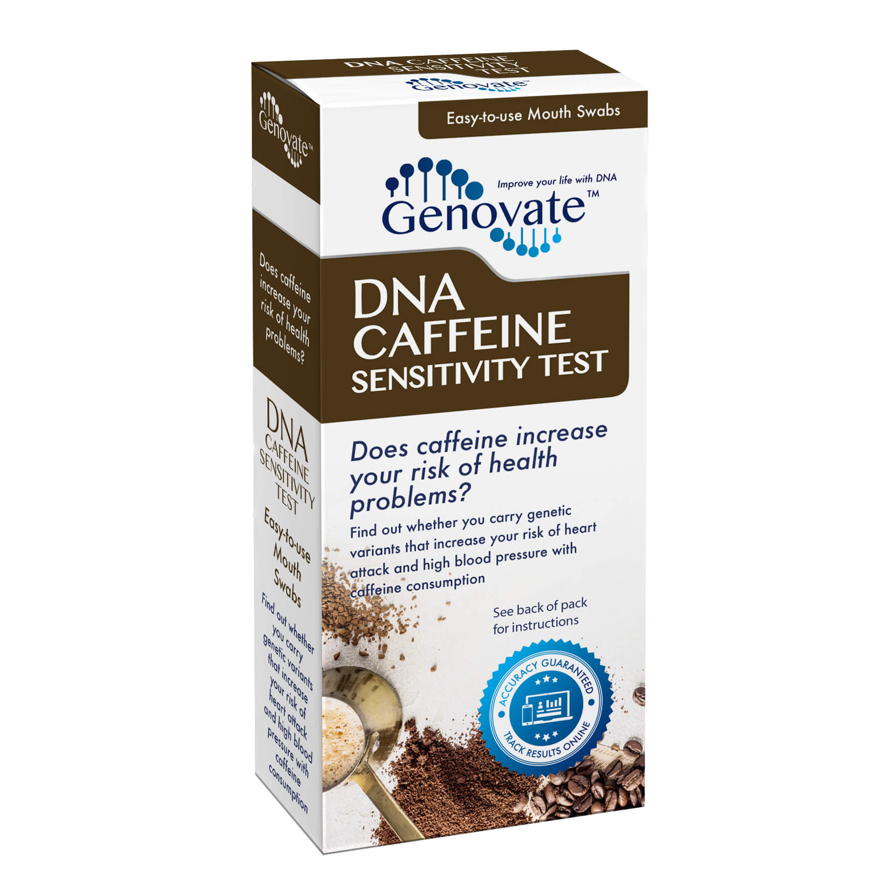 Front of DNA Caffeine Sensitivity Test box
