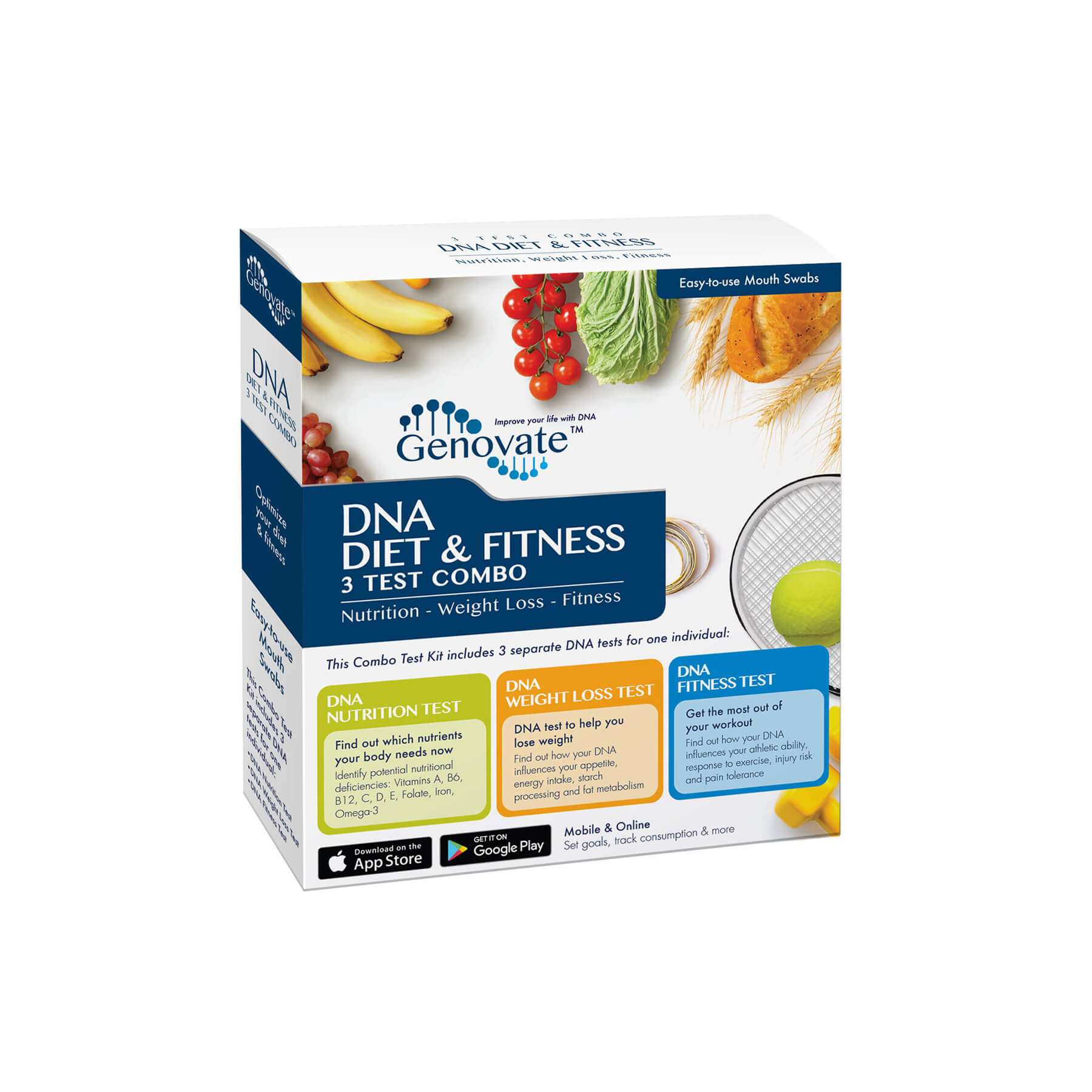 dna diet and fitness combo - nutrition, weight loss, fitness | genovate